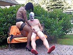 Due sessi nel da giardino Hannover Bacio succhia Soffiare Legjob di nylon