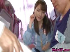 Crazy Asian girls have hot bus tour part1