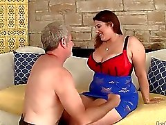 Beautiful mer plumper Angel DeLuca hardcore sex