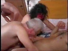 Komik Amatör - Bisex Älteres Sarışınlar Paar - Drei Szenen