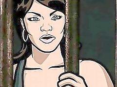 Archer Porn Jail sex with Lana