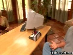 Nr. Sound: Fuß Fetisch und dem blonde Sekretärin