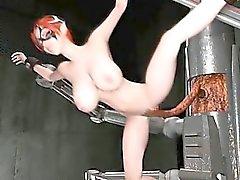Анимированные 3D жесткое порно пол