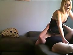 Cheating Mature Wife Sits on His Face