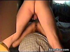 Азиатского Жене толченый Быть In The Ass