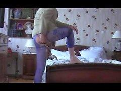 Mädchen reifen Fisting anal Spielzeug Strumpfhosen Dessous Sextoy 21