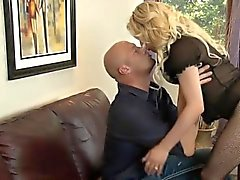 Busty blonde tranny Tyra Scott asshole slammed by nasty man