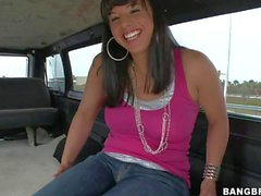 Kendra Star is today;s bang bus girl. She's a juicy