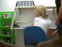 Voyeur Blowjob In The Office