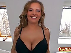 MAGMA FILM A public guide with busty Candy