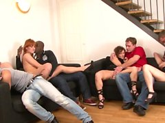 Nasty girls get fucked by big cocks