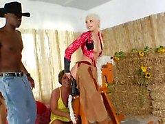 Brutal Stumpf Dreier mit Cowboy