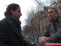 Doggystyle prostituta de Amsterdam fodida por turista