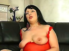 Chubby sexy Russian cougar takes cock