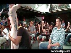 Riesigen Homosexuell Würstchen Partei zwei mit CockSausage