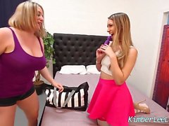 Kimber Lee en All Girl 3Some con Sara Jay y Maggie Green!