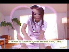 Risa Kasumi innocent asian nurse does blowjob