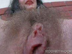 Hirsute Mädchen Orlan Doe Haarige Muschi Bushy Armpits Unrasiert Legs Sperma auf Bush