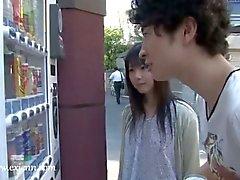 Japanese skank slammed by sucked dong