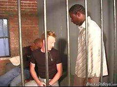 Weißer Mann wird im Gefängnis von Schwarzen gefickt