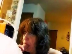 Mature friend loves milking my cock dry