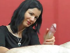 Handjob, beautiful girl