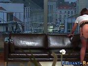 Euro maid ass creampied