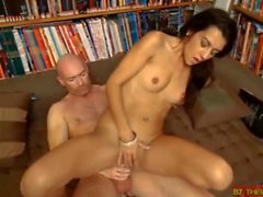 French bookworm Lou Charmelle deep anal fuck