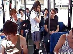 grandi pulcino di giapponese le Tette nel certo sesso dell'autobus vasca
