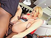 Blonde mom gets double penetration on the job
