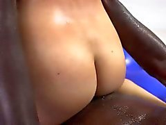 Jackie Lins shaved pussy screwed by homies big cock