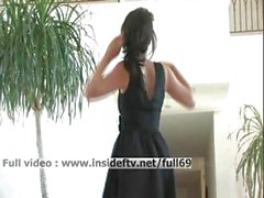Brianne _ Amateur brunette dancing and stripping on the music
