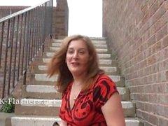 Redhead Janna любительская Нагота в общественных местах и закрытый милашкими проблесковые улицы