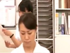 Luscious Japanese nurse has a fiery snatch yearning for a h