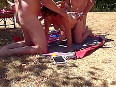 Holiday in France-outdoor with lover and cucki