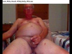 er cum auf webcam