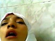 Muslimsk tonåring tjej har en trevlig session