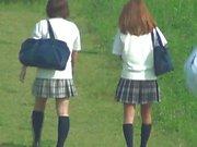 Erotic Voyeurismus Öl - Drehen den Rock von Mädchen Student