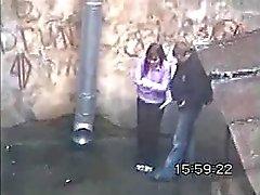 chupando en plena calle