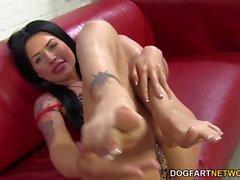 Eva Angelina runkar BBCEN i hennes sexiga fot