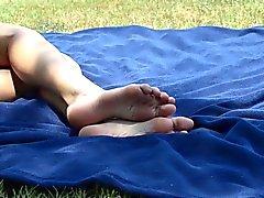 Ungestellt Hochschul Füße im Park 05.