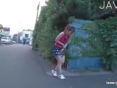 Japanese masturbating alone