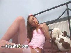 Супер сладкий розовый чулок из Россия