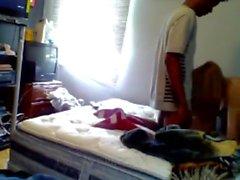 самодельный подросток милый скрытая камера большой черный петух трахал спальня