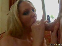 Milfy pornstar Julia Ann loves doggy style sex