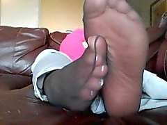 Pink Socks, Black Nylon Soles