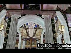 Awesome 3d Blick auf eine der Spiele Palast namens Venus Palast