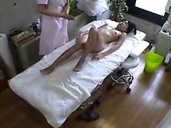 Sweet Oriental girl enjoys outstanding pleasure on the mass