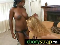 Lesbian Interracial Sex - Hardcore strapon toy lesbian lover 19
