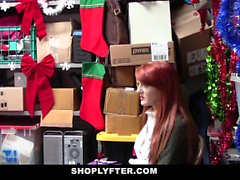 Shoplyfter рыжеволосой Cutie Pays Стоимость за угон
